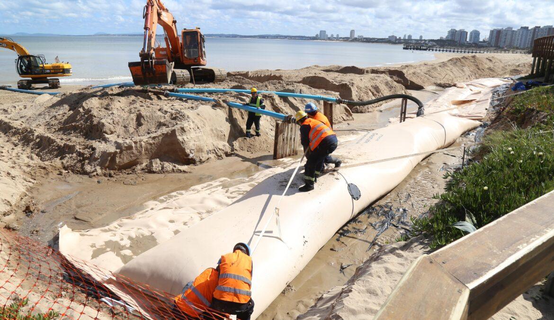 Geotubos: Plan de recuperación de franja costera